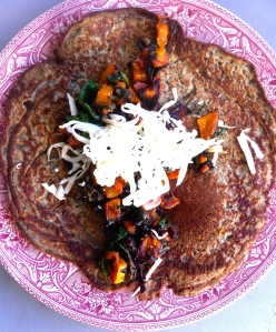 French lentil crepes