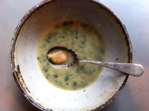 French lentil and butter bean soup with tarragon