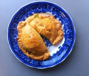 Golden beet, pistachio and golden raisin empanadas