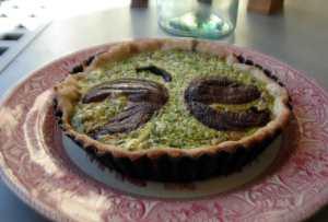 Spinach and portobello tarts