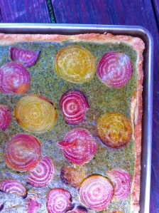 Beet and sorrel tart