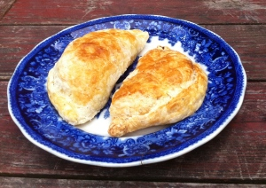 Eggplant and white bean turnovers