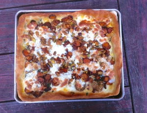 Eggplant and sweet potato tart