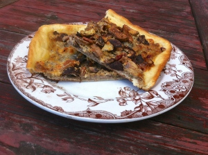 pizza with pecan sage pesto