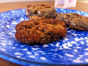French lentil, potato, pecan croquettes
