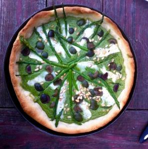 Green spring tart