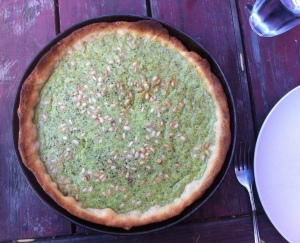 Herb and pine nut tart