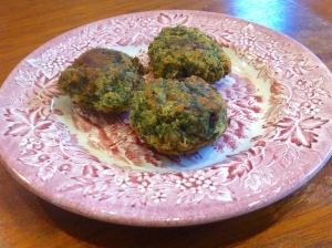 kale and chickpea flour croquettes